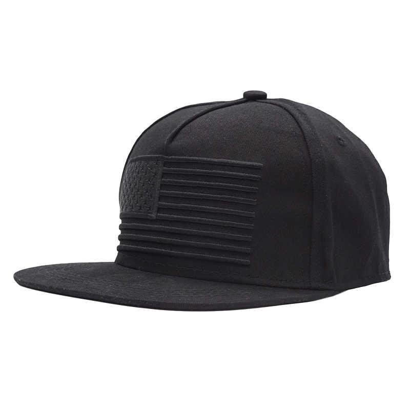 2018 Yeni ABD Bayrağı beyzbol şapkası Erkekler 3D Nakış Düz Snapback Şapka Yıldız Çizgili Kadın Açık Bayrağı Bboy Hip Hop Snapback kapaklar