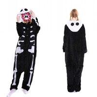 Abbille Women Pajamas Fashion Unisex Adult Sleep Tops Party Cosplay Animal Skeleton Sleepwear Cartoon Nightgown Suit