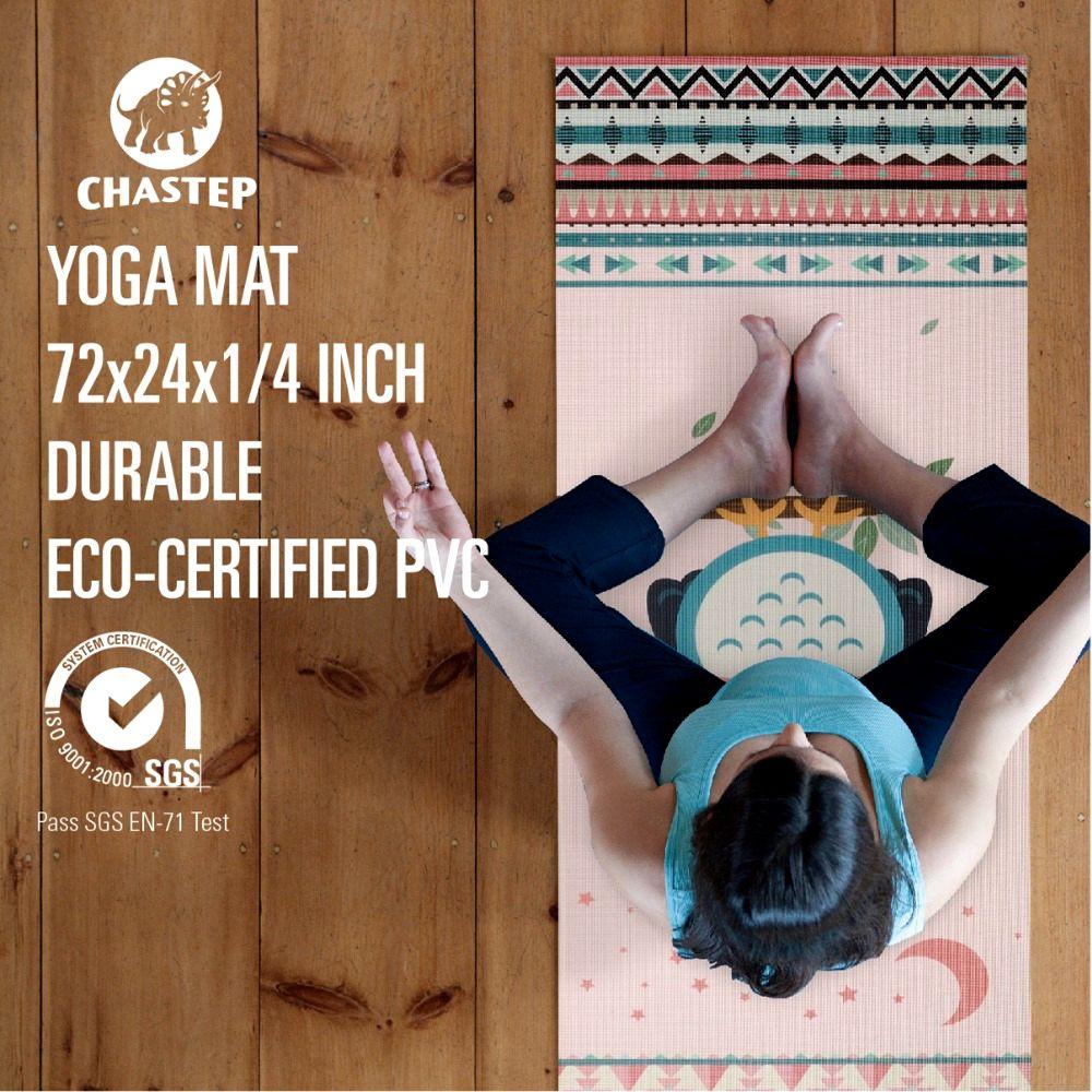Chastep, das natürliche PVC-Yoga-Matte faltet Umweltfreundliche - Fitness und Bodybuilding - Foto 3