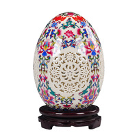 Jingdezhen porcelain vase decorative ornaments hollowed out lucky eggs handicrafts furnishings living room accessories gifts