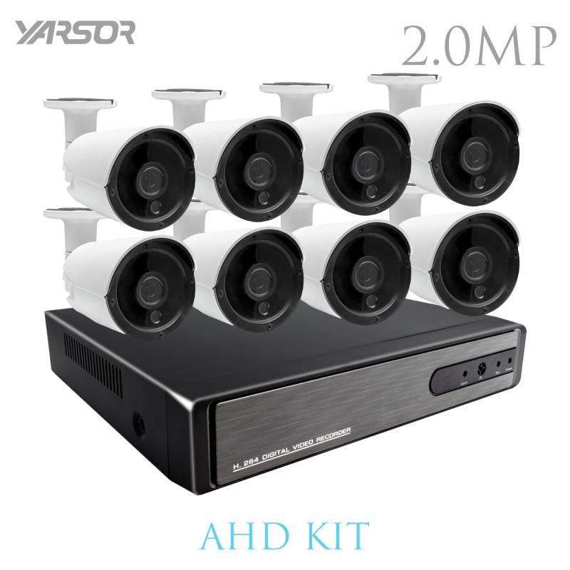 AKT2008LF HD 8CH CCTV System 1080P HDMI DVR 720P CCTV Security Camera 4PCS 1280TVL IR Outdoor camera Video Surveillance kit