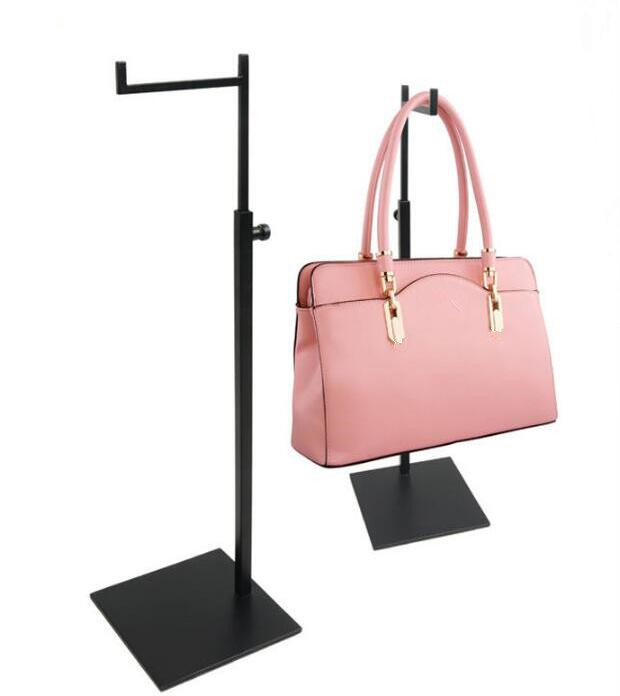 Bent Hook Matte Stainless Steel Matel Women Bags Display Holder Wig/silk Scarf/purse/handbag Display Stand Rack Free Shipping Sales Of Quality Assurance Home Furniture Coat Racks