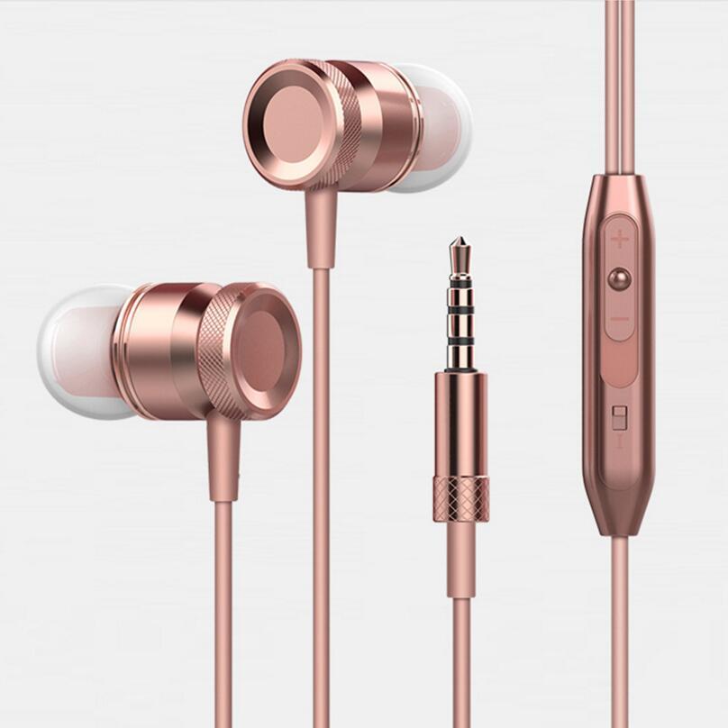 D'origine 4 couleurs métal piston écouteur HC002 Clarté Son Stéréo Casque avec micro pour iPhone xiaomi huawei samsung téléphone MP3