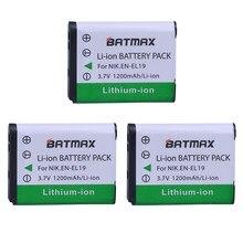3 шт., аккумуляторные батареи для камеры Nikon S2500 S2600 S2700 S3100 S3200 S3300 S3500 S4100 S4150 S6500