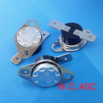 (100 pcs/lot) KSD301 NC Thermostat, Temperature Switch, Normally Close,NC 40 Celsius.