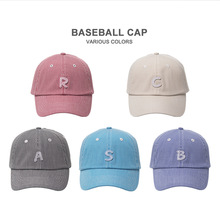 High Quality A B C S R  LETTER Patch Baseball Cap Women Men Snapback Ladies Hat Hip Hop for Young Teenagers Cotton 5 Colors