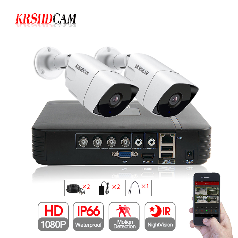 2CH CCTV System 1080P AHD 1080N CCTV DVR 2PCS 3000TVL SONY323 IR Waterproof Outdoor Security Camera Home Video Surveillance kit tutucover tutucover дизайн для lg nexus 5 2574