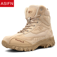 ASIFN Men Winter Military Boots Fashion Army Men' S Tactical Desert Combat High Top Ankle Male Outdoor Work Shoes Men