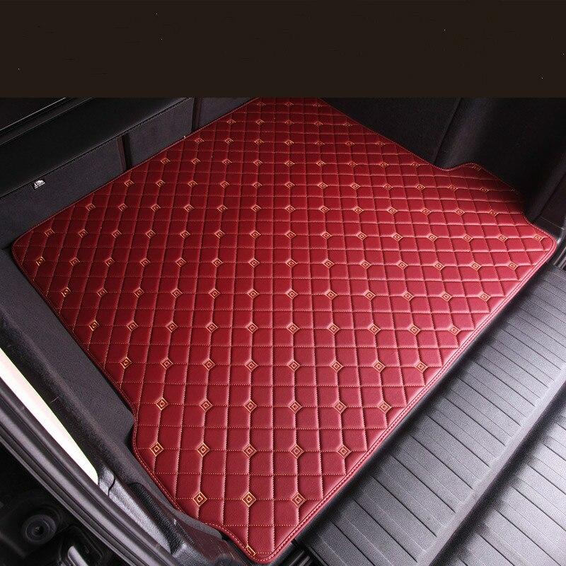 No Odor Waterproof carpets Boot rugs Custom special car trunk mats for Kia Carnival Shuma Borrego Opirus Niro Stinger K2 K3 no odor custom waterproof carpets durable rubber car floor mats for kia k2 k3 k3s k5 sportage r sorento 5 seats