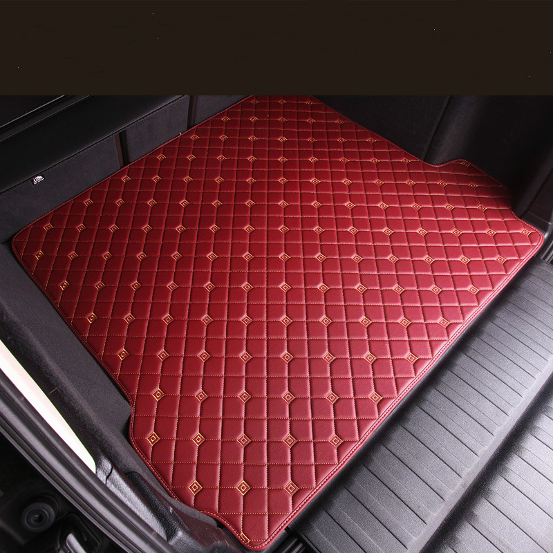 No Odor Waterproof carpets Boot rugs Custom special car trunk mats for NISSAN Patrol GT-R 370Z NV200 X-TRAIL Fuga custom fit car trunk mats for nissan x trail fuga cefiro patrol y60 y61 p61 2008 2017 boot liner rear trunk cargo tray mats