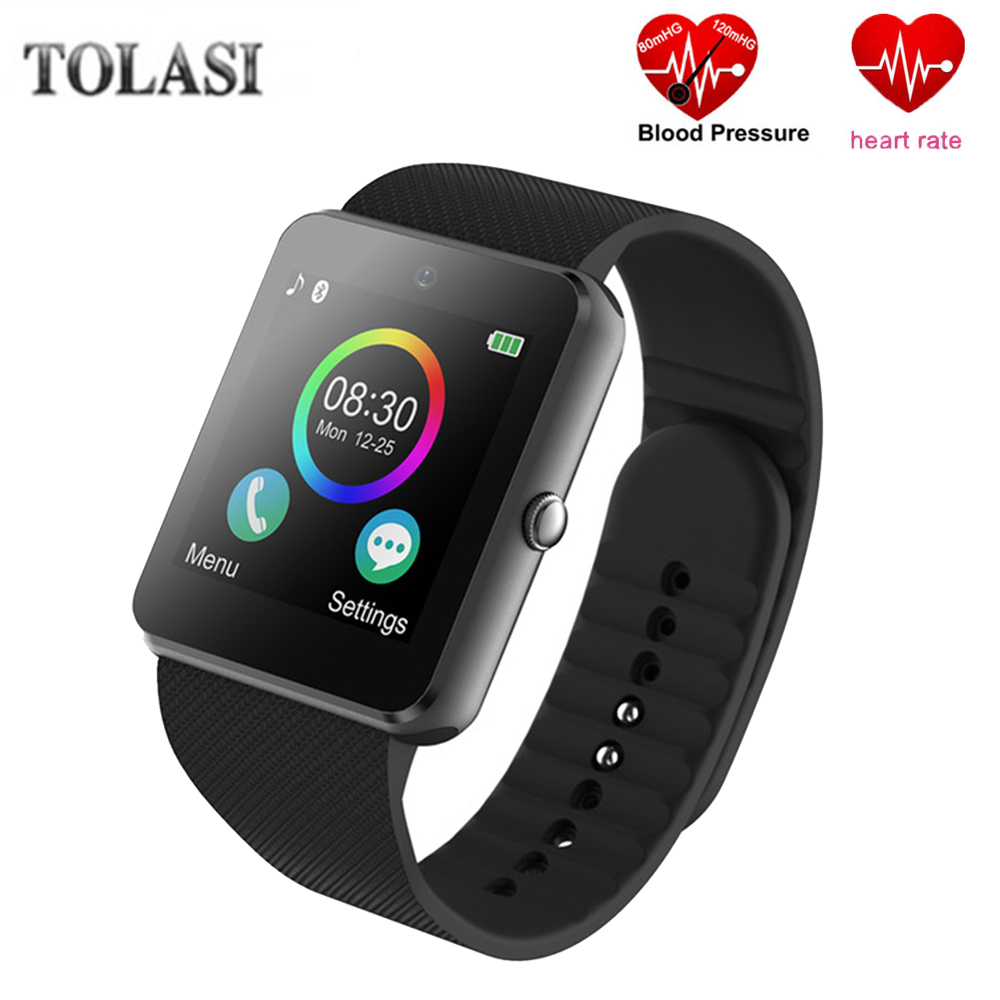2018 New Smart Watch Bluetooth Smartwatch GT08 Phone Watch Camera Touch Screen Support Pedometer TF SIM Card for Android iOS 1 6 screen stainless steel bluetooth 3 0 sim camera hd dv recording pedometer 4g memory smart watch phone security msn p20