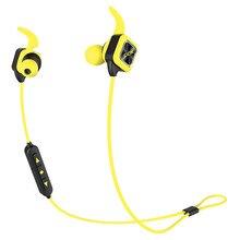 Bluetooth Earphone Wireless Sports Headphones Bass Stereo Earbuds Ear Hook Mic Voice Prompt Handsfree Noise Reduction Sweatproof new smart wireless sport earphone bluetooth 4 1 sports stereo in ear earphone voice control noise reduction with mic