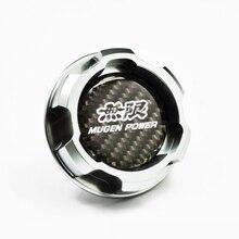 Серебряные алюминиевые детали Mugen POWER моторное масло Кепки для Honda Accord SI элемент ACURA INTEGRA S2000 перед применением CRV PRELUDE TYPE-R CIVIC CRX