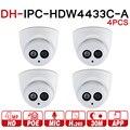 DH IPC-HDW4433C-A 4 шт. POE, сетевые мини купольные камеры со встроенной микро 4 МП CCTV камеры 4 шт./партия для системы видеонаблюдения