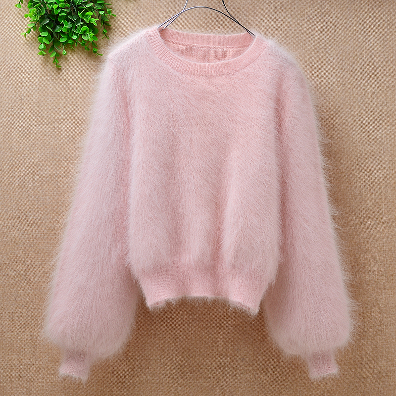 Men Fur Mohair Pullover Jumper Sweater Knitwear Tops Thick Soft Winter Warm hot