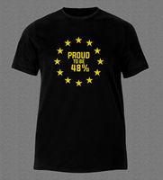 Kısa Kollu Yaz Tarzı AB KALMAK DILEKÇE OY REFERANDUM KALıR OLMAKTAN gurur 48% T-shirt Yaz Moda Komik Baskı t-shirt