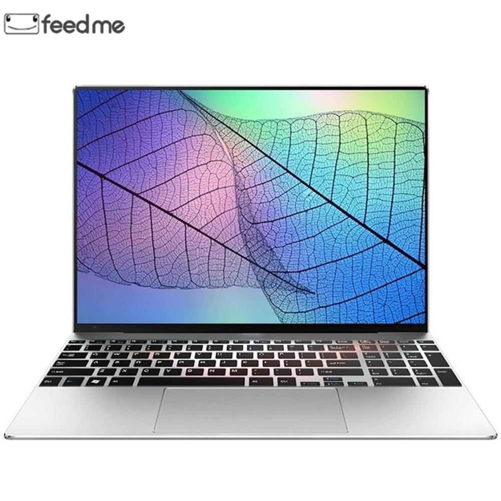 Feed Me 15.6 Inch Laptop J3455 Quad Core 6GB RAM 1080P IPS Windows 10 System Full Keyboard Bluetooth 4.0 Notebook with RJ45