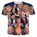 Смешно Дональд Трамп 3D Футболки США президентской избирательной Кампании кандидата Голосовать За Республиканцев Мужчины Женщины футболка Топы Тис