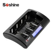 Soshine CD1 Универсальный Батарея Зарядное устройство Smart интеллектуальные ЖК-дисплей Дисплей NiCd NiMh AAA AA D 9 В Перезаряжаемые ЖК-дисплей Батарея зарядное устройство
