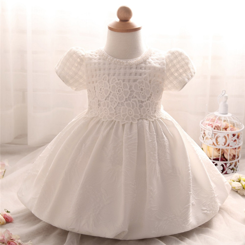 Baby girls kids frock gown designs toddler infant for Making baptism dress from wedding gown