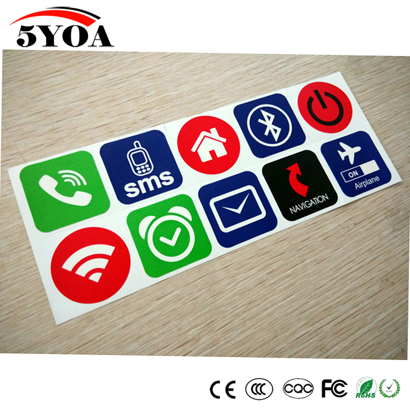 10pcs/lot NFC Tags Stickers Ntag213 Label Rfid Tag Card Adhesive Key Tags llaveros llavero Token Patrol 200pcs lot ntag213 pvc card 13 56mhz nfc rfid label tag token for access control payment all nfc phone