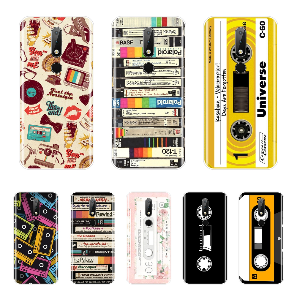 Phone Case Silicone For <font><b>Nokia</b></font> 2.1 3.1 5.1 <font><b>6.1</b></font> 7.1 Retro Cassette Soft Back Cover For <font><b>Nokia</b></font> 7.1 <font><b>6.1</b></font> 5.1 3.1 2.1 Plus image