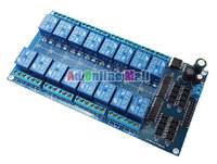 12V 16 Channel Relay Module Interface Board For Arduino PIC ARM DSP PLC With Optocoupler Protection
