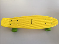 Pastel Yellow 22 Style Skateboard Child Cruiser Mini Longboard Plastic Fish Skate Long Board With Green
