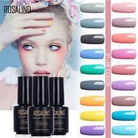 ROSALIND 7ML New 1pcs 58 Macaron Colors 31-58 Gel Nail Polish Nail Art Nail Gel Polish UV Gel Colorful Gel Varnish