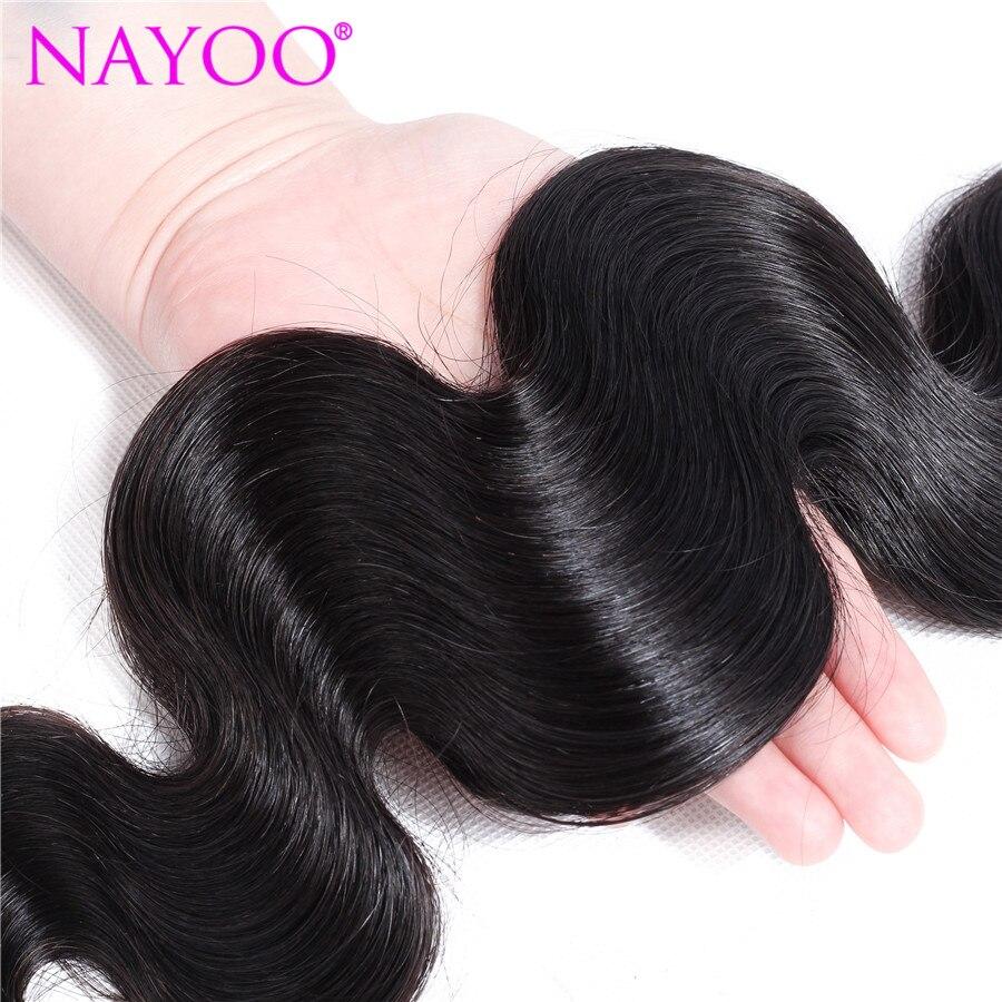 NAYOO Πακέτα ανθρώπινων μαλλιών σώματος - Ανθρώπινα μαλλιά (για μαύρο) - Φωτογραφία 4