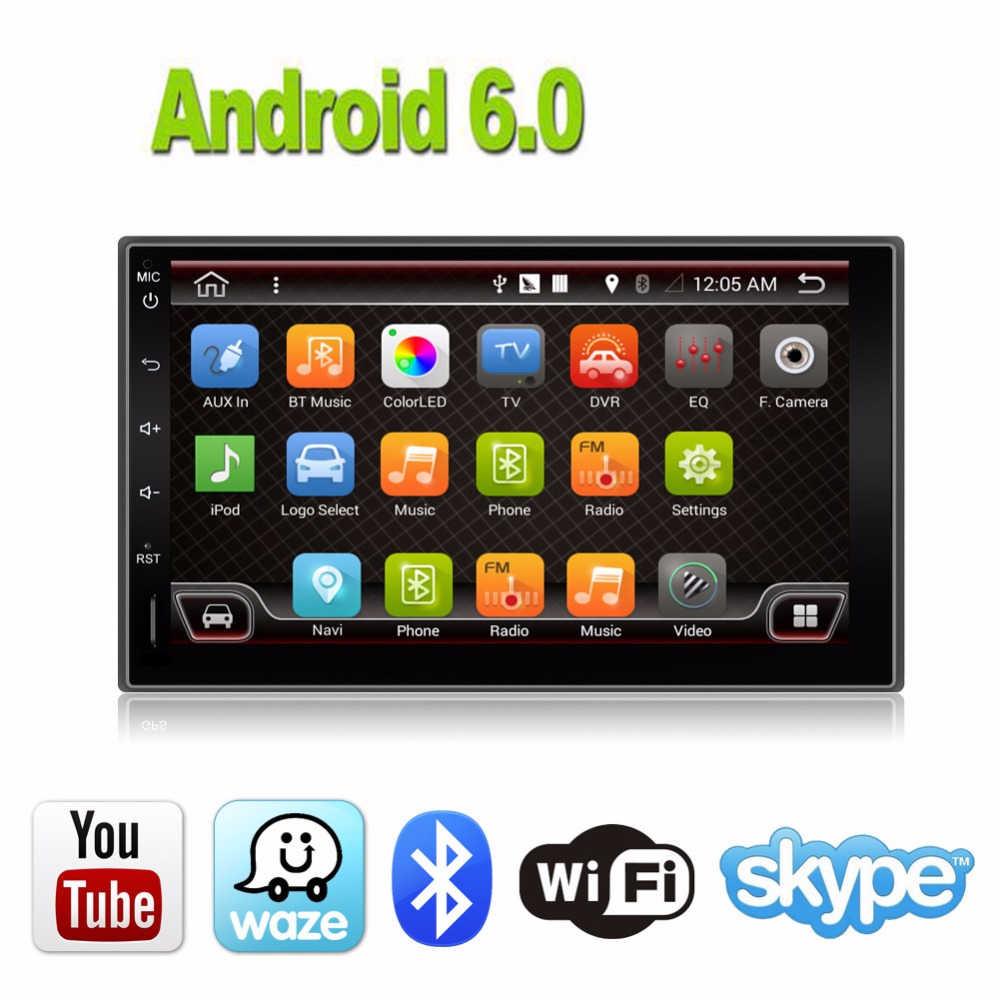 2din Android 6.0 Universal Touch Car PC Tablet double Audio 7'' GPS Navi Car Stereo Radio USB No DVD Navigation Video Capacitive автомобильный dvd плеер joyous kd 7 800 480 2 din 4 4 gps navi toyota rav4 4 4 dvd dual core rds wifi 3g