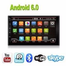 2Din Android 6.0 Универсальный сенсорный автомобилей планшетных ПК Двойной аудио 7 »GPS NAVI Стерео Радио USB no dvd навигация видео емкостный