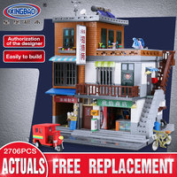 XingBao 01013 2706 Pcs Genuine Creative MOC City Series The Urban Village Set Building Blocks Bricks