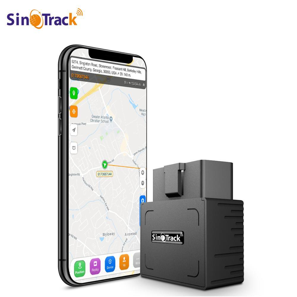 Obd ii gps tracker 16pin obd plug play carro gsm obd2 dispositivo de rastreamento gps localizador obdii com software em linha ios andriod app
