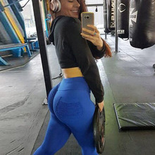JINXIUSHIRT Sexy Women Leggings Printing Push Up font b Fitness b font Leggings Running Pant Elastic