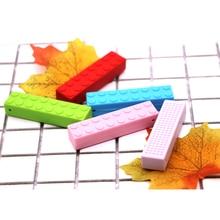 Mydear Silicone 30pcs Brick Stick Teether Babies Teething Pendant Nursing М'які силіконові бісеру Безпечні іграшки для заспокоєння дитинча дитини