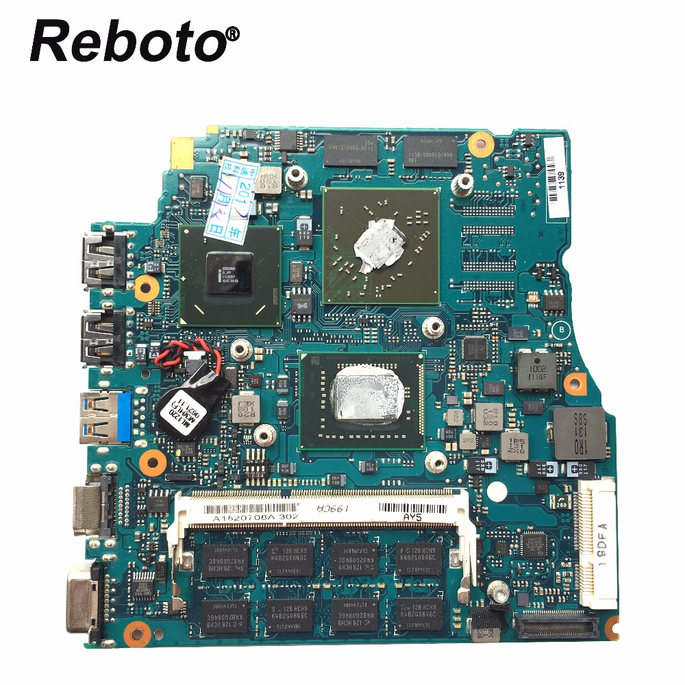 Reboto For SONY Vaio VPCSB Series 13.3 inches Laptop Motherboard A1820708A MBX-237 i5-2410M 2.30Ghz HD 6470M 512MB 100% Tested