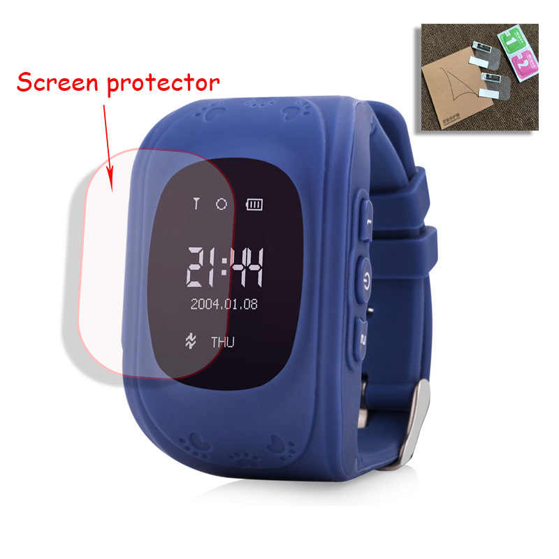 Baby Kids Child Smart GPS Watch Universal Protection Tempered Smartwatch Glass Screen Film Protector Case for Q50 T58 Y3 2Pcs