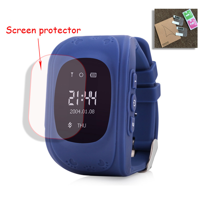Baby Kids Child Smart GPS Watch Universal Protection Tempered Smartwatch Glass Screen Film Protector Case for