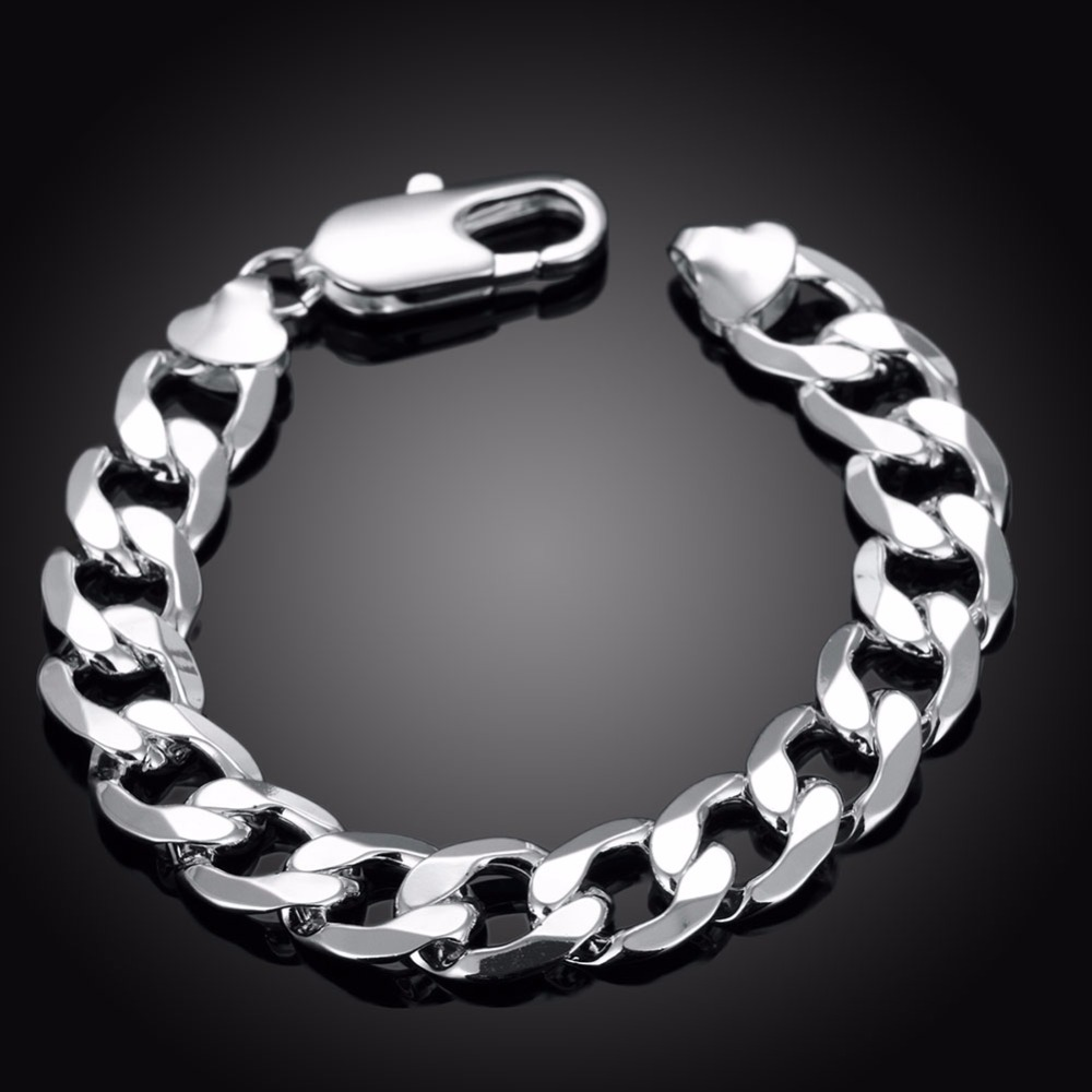 plated silver co chain snake bracelets mens bracelet shop jewelry