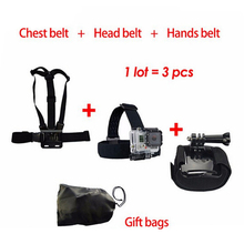 Free Shipping Accessories Set 5 in 1 Chest Strap Hands Strap Head Strap for Gopro Hero