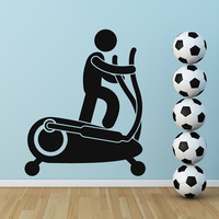 S 05 Free Shipping Art Wall Stickers DIY Home Decorations Cross Trainer Wall Decals Living Room