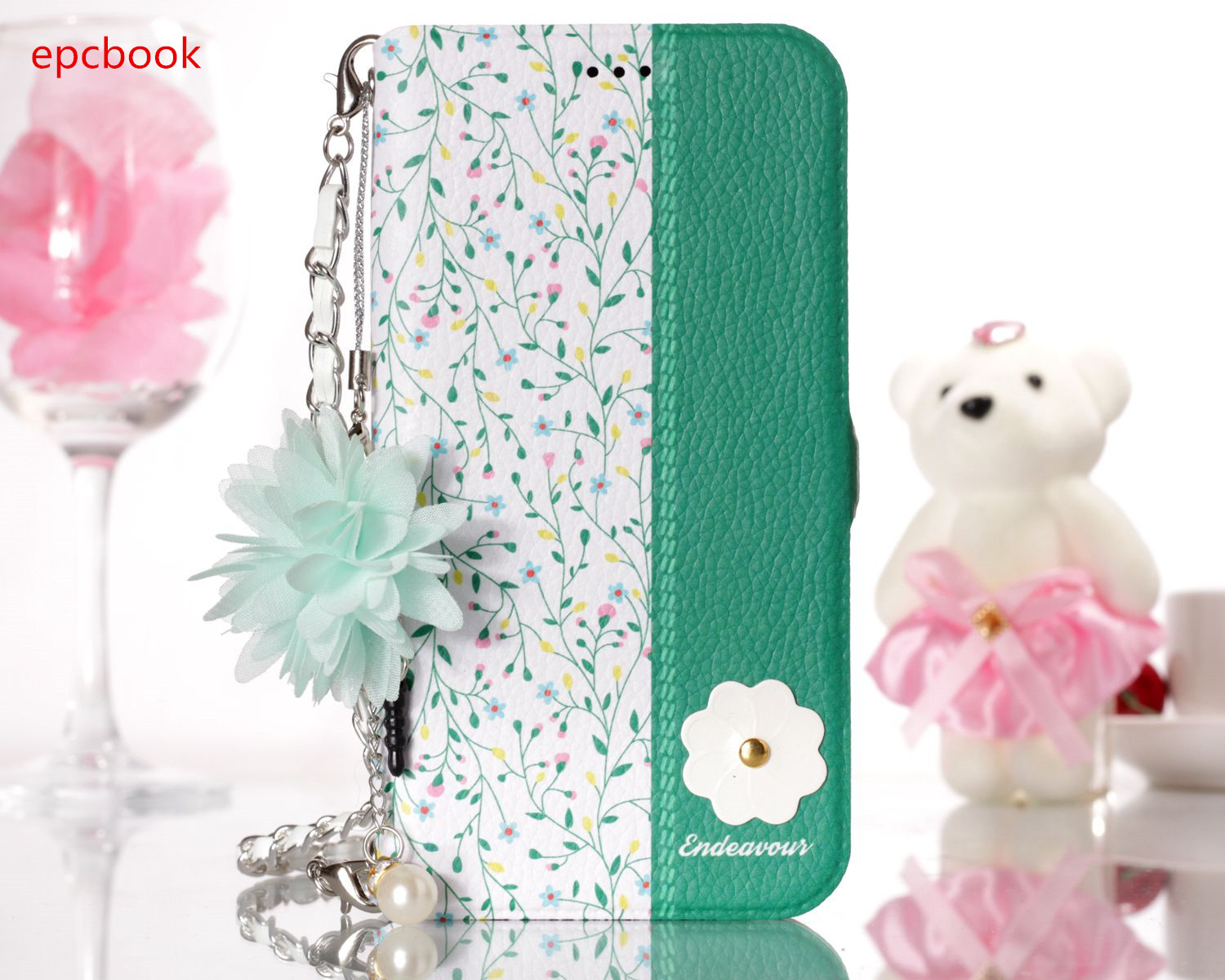 epcbook fashion cute Patterned For Apple iPhone 7 7plus X Cover Case For iPhoen 8 8plus flower PU Leather With Card Pocket Case