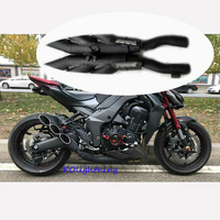 Full Motorcycle Exhaust System Pipe Three Hole Muffler Pipe Middle Mid Connecting Link Pipe For Kawasaki Z1000 2010 16 Slip on