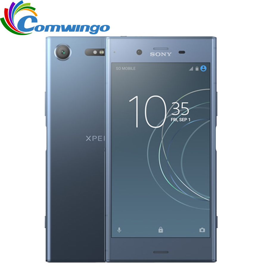 Original Sony Xperia XZ1 G8342 64G ROM 4G RAM 19MP Octa Core NFC 2700 mAh Dual Sim Android 7.1 Quick Charge 3,0 Telefon