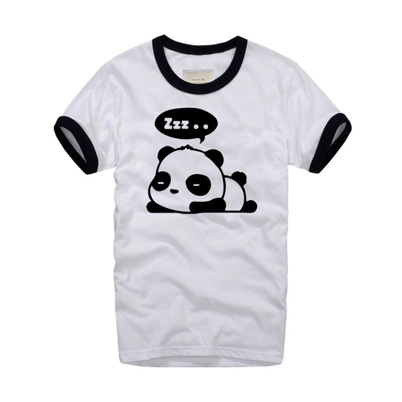 Summer Brand Clothing Panda Sleeping Print Cute Design T ...
