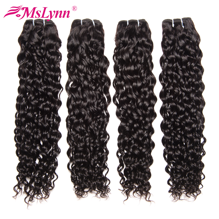 Water Wave Bundles Brazilian Hair Weave Bundles Human Hair Weave Bundles Mslynn Hair 4 Or 3 Bundles Remy Hair Natural Color