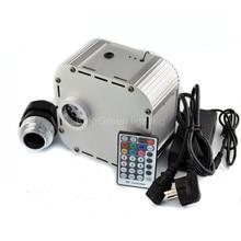 1X Haute qualité 12 V entrée RGB couleur LED 32 W fiber optique lumière moteur avec 28 clé RF à distance contrôleur livraison gratuite