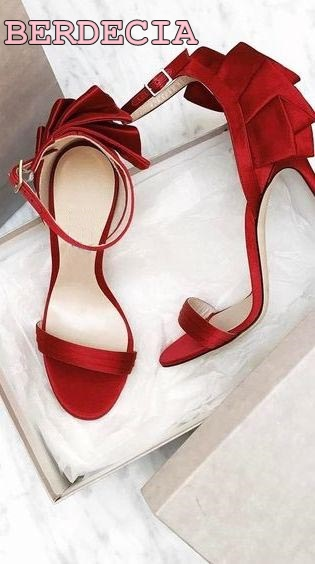 top selling open toe sandals red sweet style woman shoes pleated high heel sandals summer newest dress shoes fit  slim sandals top selling open toe high heel sandals luxury rhinestone embellished lace up sandal wedding party summer dress shoes women