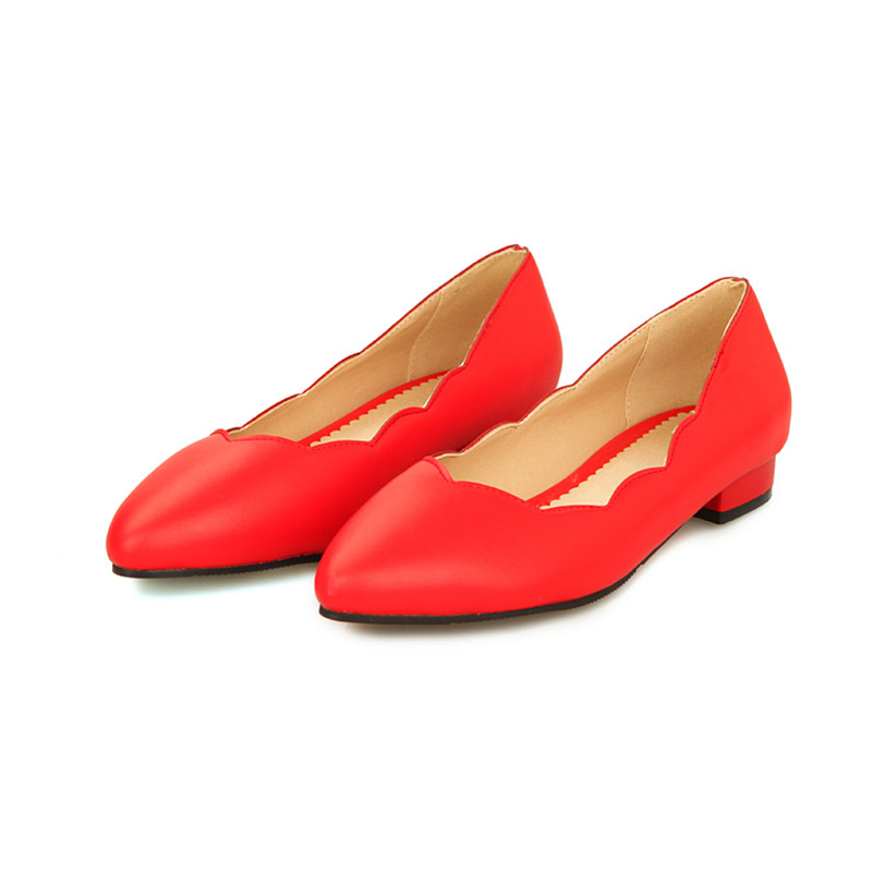 Plus Big Size Spring Office Women Pumps Thick Block Low Heels Sexy Summer Pointed Toe Work Party Dress Casual Red Ladies Shoes plus size 34 49 new spring summer women wedges shoes pointed toe work shoes women pumps high heels ladies casual dress pumps